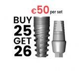 Buy 25 - Get 26 implants