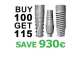 Buy 100 - Get 115 implants